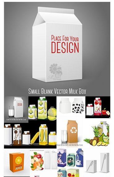 دانلود تصاویر وکتور پکیج یا بسته بندی آبمیوه و شیر